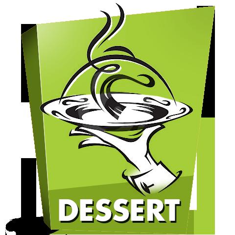 Dessertkaart met heerlijke toetjes